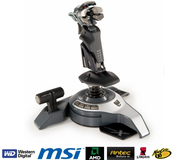 Saitek Cyborg X, joystick para juegos de aviones