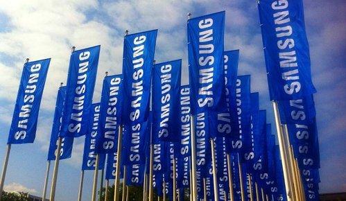 Banderas de Samsung en un evento