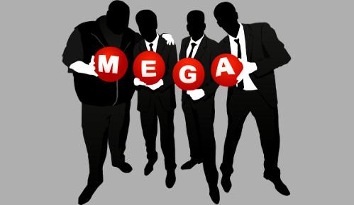 Las siluetas de los creadores de Mega. A su izquierda, y fácilmente identificable, la de Kim dotcom