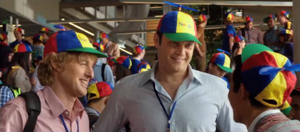 Owen Wilson y Vince Vaughn caracterizados como interinos de Google