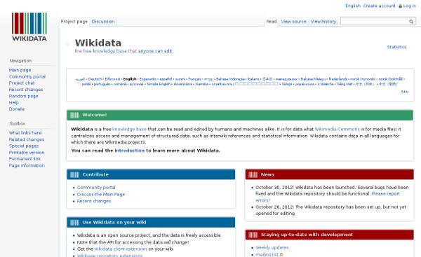 Pàgina de Wikidata