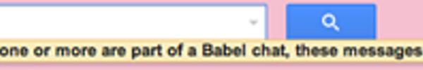 El trozo del mensaje aparecido al usuario de Google+ cuando eliminó unos mensajes de Gmail en el que se podría haber revelado accidentalmente la existencia de Google Babel