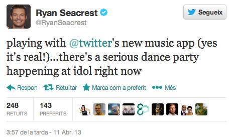 El tweet de Ryan Seacrest