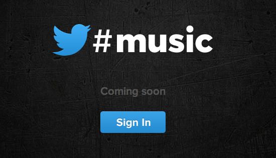 Així es veu la pàgina que anuncia Twitter Music