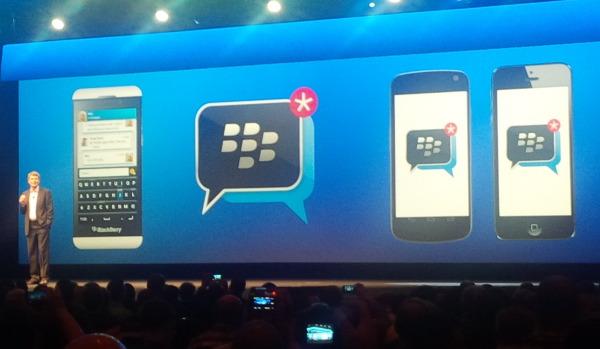 Momento de la presentación de BBM para Android y iOS