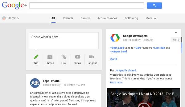 El nou Google+