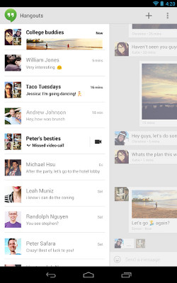 Hangouts en un smartphone Android
