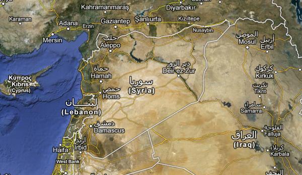 Mapa de Síria