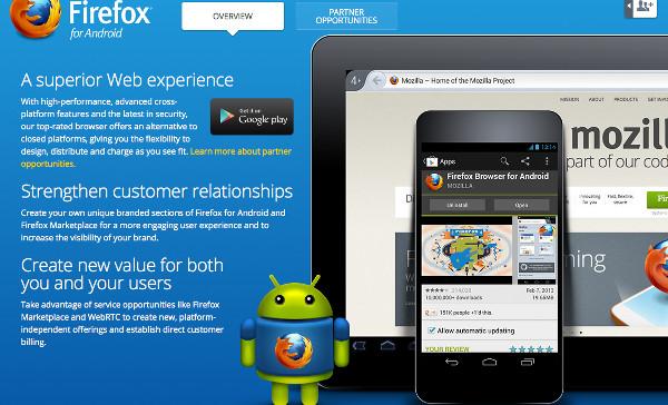 Al lloc web del Firefox OS ja s'hi intueix la possibilitat d'un tablet