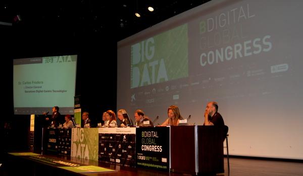 Carles Fradera, Director General de Barcelona Digital Centre Tecnològic, donant la benvinguda al congrés