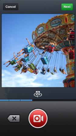 Així és la interfície de gravació de vídeo a Instagram