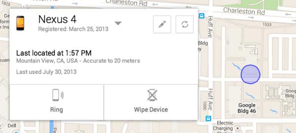 les possibilitats de l'Android Device Manager
