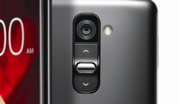 Detall dels botons posteriors de l'LG G2