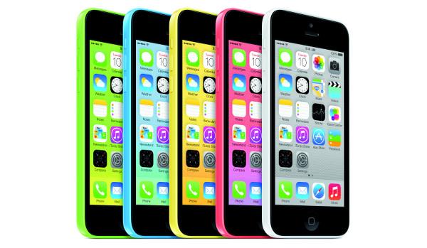iPhone 5C en tots els seus colors