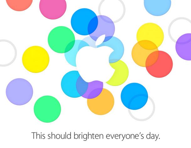 La invitació enviada per Apple als mitjans