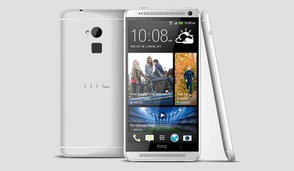 El nou HTC One Max, en el qual podem apreciar el lector d'empremtes a la part posterior