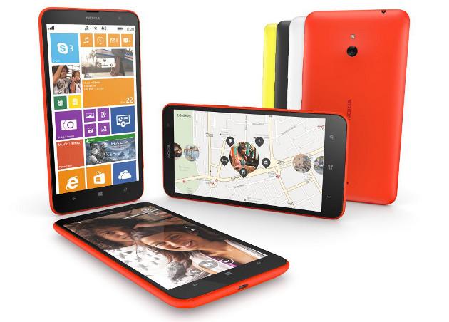El Lumia 1320 puede distinguirse del anterior modelo por unas esquinas redondeadas