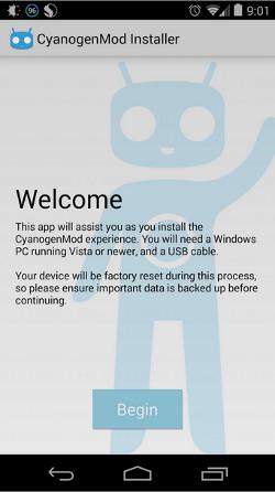 El instalador de CyanogenMod