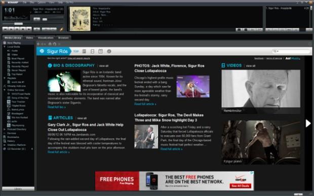 Interfaz de usuario de Winamp