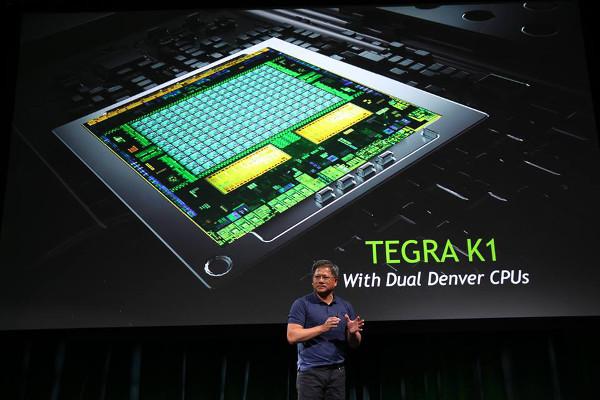 Momento de la presentación del NVIDIA Tegra K1