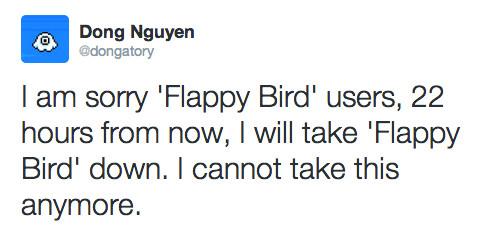 Dong Nguyen anuncia la retirada de Flappy Bird