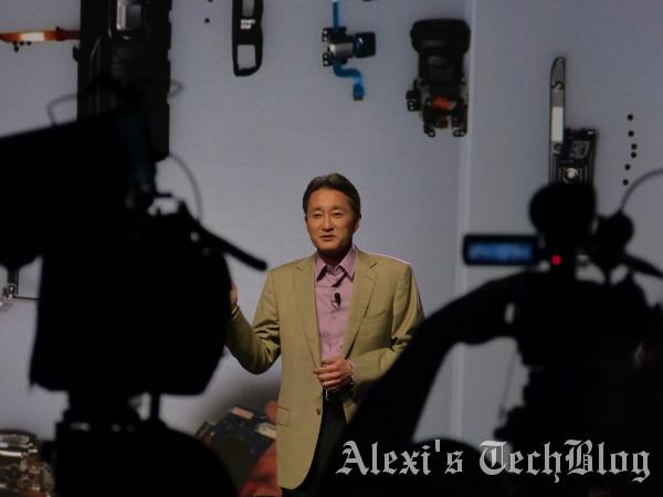 Kazuo Hirai, Presidente y CEO de Sony, durante la rueda de prensa del CES 2013