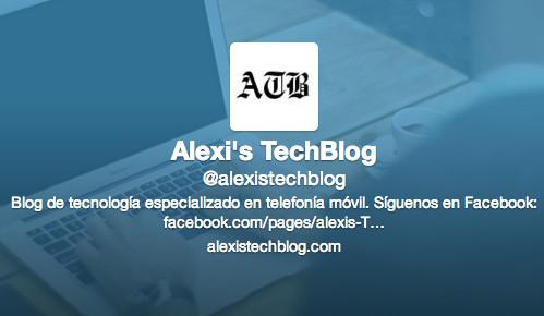 Esta es la cuenta de Twitter de Alexi's TechBlog