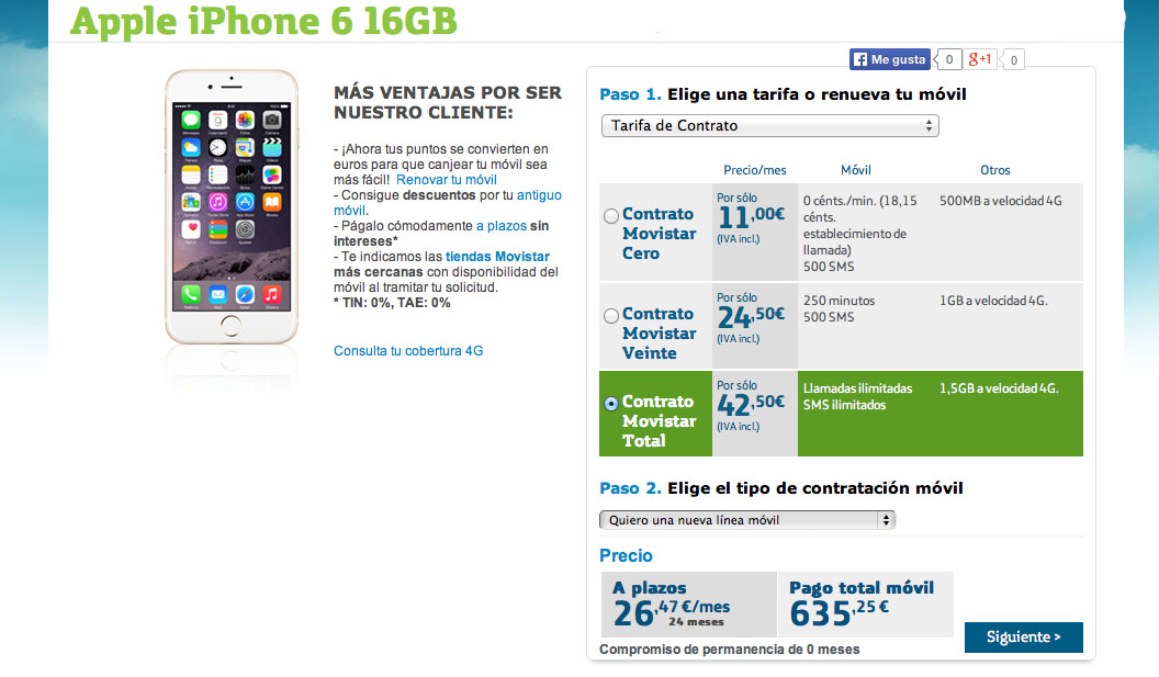 Comprar Iphone  Con Vodafone